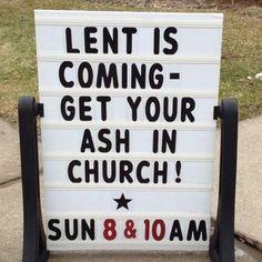 Lent begins March 5, 2014