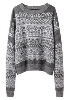 Alexander Wang /Fair Isle Sweatshirt #sweater #wang