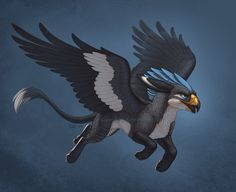 Griffus: the cousin species to the griffin and phoenix. Although the phoenix is the fire bird cousin, this species is more a wind element creature.