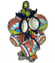 Talavera Cups  and Holder