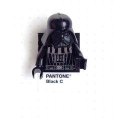 "Pantone Black color match.  Lego Darth Vader. ""The force is strong with this one."""