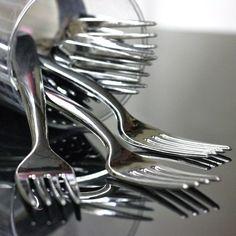 "Jetable: fourchette ""inox"" luxe 3,5€ les 25"