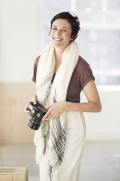 Garance Dore for Zara pictures - t-shirt and textured scarf.