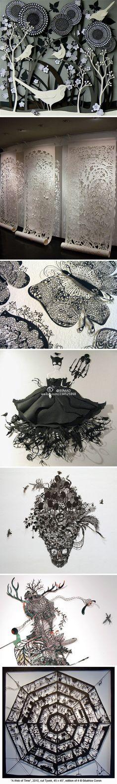DIY handmade paper-cut design so intricate
