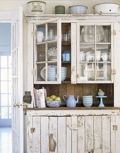 love this farmhouse cupboard | future southern shack | http://bit.ly/GNO7Ah