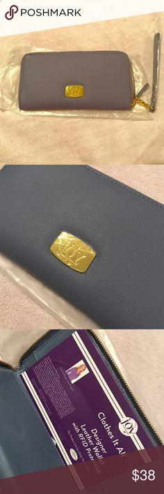 4c654399c59e JOY MANGANO    Leather Wallet-Wristlet Organizer Real leather  wallet wristlet organizer from