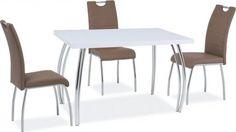 Jídelní stůl SK-2 102x64 bílý lesk Sk2, Dining Chairs, Dining Table, Furniture, Home Decor, Decoration Home, Room Decor, Dinner Table, Dining Chair