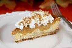 Layered Pumpkin Pie Toffee Cheesecake - Our Best Bites
