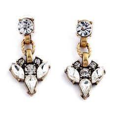 "Art Deco Earrings Stunning Art Deco Earrings  Size: 0.78"" x 1.57""  Materials: Gold-tone Base Metals, Resin, Rhinestones  Nickel & Lead Free  Condition: New Jewelry Earrings"