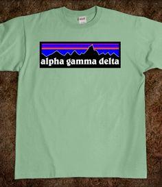 "Alpha Gamma Delta ""Patagonia"" Shirt WANT"