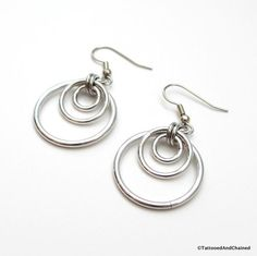 Triple hoop chainmaille earrings - Tattooed and Chained Chainmaille  - 4