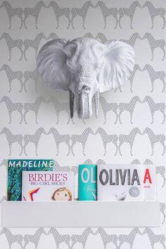 Zee Wallpaper in Silver by Sissy + Marley for Jill Malek