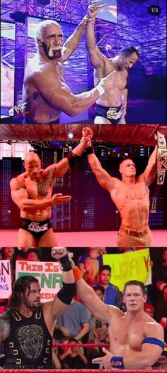 The evolution of 'passing the torch' ☆ Hulk Hogan, The Rock, John Cena, and Roman Reigns #WWE