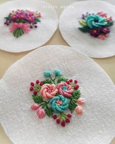 Embroidery Designs Hand Stitch Embroidery Thread At Joanns Hand Work Embroidery, Embroidery Flowers Pattern, Embroidery On Clothes, Simple Embroidery, Silk Ribbon Embroidery, Embroidery Jewelry, Hand Embroidery Designs, Embroidery Thread, Embroidery Supplies