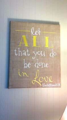 16 X 20 CUSTOM Burlap Canvas sign bible by Instinct2create www.instinct2create.etsy.com