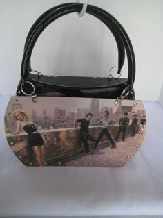 BLONDIE AUTOAMERICAN VTG RETRO VINYL RECORD TOTE PURSE SHOULDER BAG  UPCYCLED  HANDMADE  TotesShoppers 7286d452b4a32