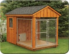 The Dog Kennel Collection specializes in dog houses of all sizes & colors, available in Lancaster County. Visit our site for more large dog houses! Canis, Outside Dogs, Dog Pens Outside, Dog House Plans, House Dog, Dog House With Ac, Large Dog House, Dog Rooms, Dog Houses
