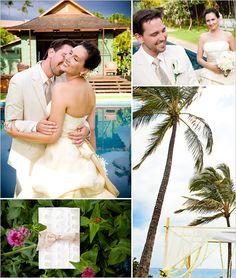 Hawaiian Wedding - beautiful hanging flowers!