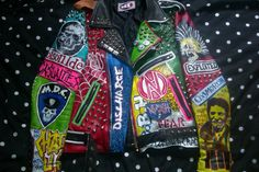 Discover and share the most beautiful images from around the world Punk Jackets, Battle Jacket, Studded Leather Jacket, Most Beautiful Images, Girl Gang, Vest Jacket, Patches, Hand Painted, Metal