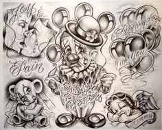Gangster Tattoo Flash | Boog Cartoon Gangster Chicano Tattoo Mister Flash Book Ebay - picture ...