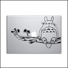 Totoro Macbook Pro Sticker Decal Vinyl air funny 13 15 17 apple skin branch tree