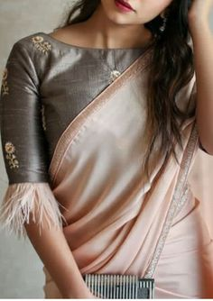 12 High Neck Blouse Designs In Varied Necklines, Collars – Lifestyle<br> Blouse Designs High Neck, Stylish Blouse Design, Fancy Blouse Designs, Bridal Blouse Designs, High Neck Blouse, Kurta Designs, New Saree Designs, Kerala Saree Blouse Designs, Stylish Sarees