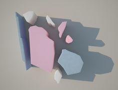 carolina-carballo.tumblr.com cargocollective/carolinacarballo.com  #abstract #3d #cgi #artdirection #design #graphics #colors #vray #stilllife #pitchzine #pastel #pink