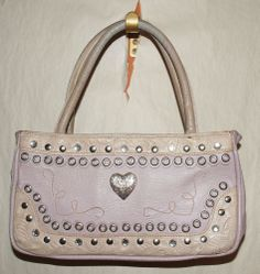 Purse AMERICAN WEST Cowboy Cowgirl Light Purple Heart Western Rodeo Leather  -  But not in Purple!!!