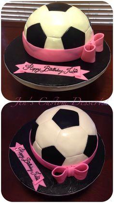 Girly Soccer Ball Cake
