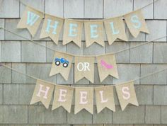 Wheels or Heels Gender Reveal Wheels or by IchabodsImagination