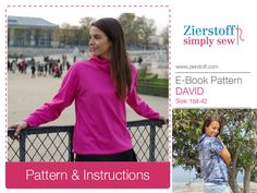 DAVIDs hoody , sizes 158 – woman 42 / Kids M – woman L / INSTANT DOWNLOAD by MyZierstoff on Etsy