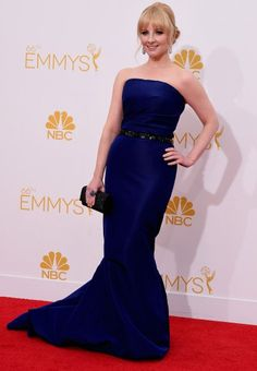Melissa Rauch at the 2014 Emmy Awards