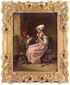 Francois-Louis Lanfant Antique Original Oil Painting Portrait Lady Baby Signed Portrait, Painting, Oil, The Originals, Antiques, Lady, Antiquities, Antique, Headshot Photography