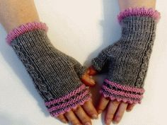 Mittenki :O) Knitted Gloves, Fingerless Gloves, Arm Warmers, Knit Crochet, Crafty, Wool, Stitch, Knitting, Collections