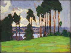Lawren Harris of the fantastic Group of Seven, Rainstorm, Northern Lake, 1917 Group Of Seven Artists, Group Of Seven Paintings, Emily Carr, Canadian Painters, Canadian Artists, Abstract Landscape, Landscape Paintings, Oil Paintings, Tom Thomson Paintings