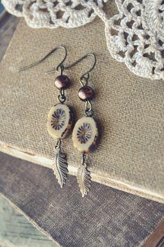 earthy autumn earrings