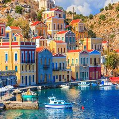 Symi, Greece is beautiful. I would love to help plan your Greek Isles trip. Stars D'hollywood, Greek Isles, Paradise On Earth, Building Art, Mediterranean Style, Beautiful Places To Visit, Greece Travel, Monuments, Elba