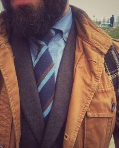 Safari camel jacket and tie...