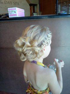 hairstyles+for+flower+girls | Flower Girl Hair Eliana's hairstyle | Hair