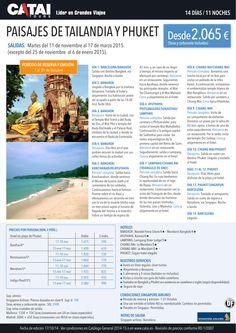 OFERTA! Paisajes de Tailandia y Phuket, reser y emis hasta 31 oct, 14d/11n desde 2.065€ ultimo minuto - http://zocotours.com/oferta-paisajes-de-tailandia-y-phuket-reser-y-emis-hasta-31-oct-14d11n-desde-2-065e-ultimo-minuto/