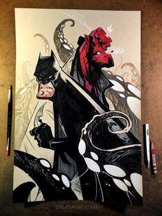 CreatureBox • Devils for the @heroesonline #heroescon art...