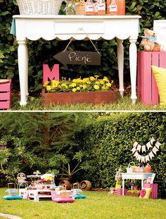Backyard Teddy Bear Picnic Party {Girls Birthday} // Hostess with the Mostess®