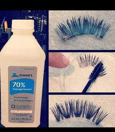 I got so tired of spending so much money on new eyelashes until I found out how to save my old ones I hope this helps out another person