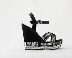 Πλατφόρμες Μαύρες υφασμάτινες χιαστί Wedges, Sandals, Shoes, Fashion, Moda, Shoes Sandals, Zapatos, Shoes Outlet, Fashion Styles