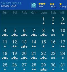 Fishing Calendar, October, Calendar