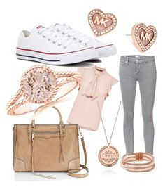 A fashion look from April 2017 featuring ruffle top, cropped jeans and converse sneakers. Browse and shop related looks. Betsey Johnson, Rebecca Minkoff, Converse, Pastel, Michael Kors, Shoe Bag, Polyvore, Stuff To Buy, Accessories