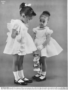 this 1960 style reminds me of outfits my sister and I had to wear to church, even the hairstyles!!!!!!!!!