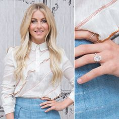 Pin for Later: Ogle the Most Massive Celebrity Engagement Rings Julianne Hough Brooks Laich surprised Julianne with a custom Lorraine Schwartz oval-cut diamond ring in Celebrity Rings, Celebrity Engagement Rings, Best Engagement Rings, Solitaire Engagement, Engagement Rings Princess, Cushion Cut Engagement Ring, Julianne Hough Engagement Ring, Wedding Ring Styles, Wedding Rings