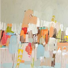 Consider large-scale wall art, like this painting by Caroline Z. Hurley, to bring color inspiration into a room.
