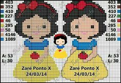 Disney Snow White cross stitch.